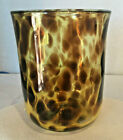 SUKAHARA HAND BLOWN TORTOISE SHELL PATTERN GLASS
