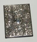 KEYFORD FRAMES UK FLORAL EMBOSSED SILVER  LEATHER BOUND ADDRESSBOOK NEW IN BOX