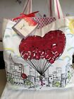 Brighton Canvas Shopper Tote Bag Free Your Heart And Let It Fly Super Cute