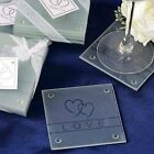 60 pcs Heart and Love Glass Coasters 15 gift boxes Wedding Party Favors