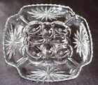 Anchor Hocking Glass Early American Prescut EAPC Egg Relish Plate 2 Available !