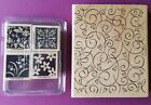 Stampin Up Soft Swirl and Mostly Flowers Retired Background and Stamp Set