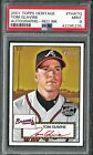 TOM GLAVINE 2001 Topps Heritage Real One Autographs Red Ink #'d 32 52 PSA 9 HOF
