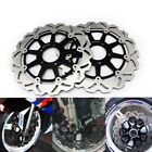 2X Front Brake Rotors For Suzuki GSXR600/750 97-03 GSXR1000 01-02 GSX1300R 99-07