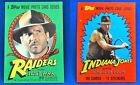 1984 Topps Indiana Jones and the Temple of Doom Trading Cards 6