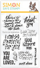 Simon Says Stamp UPLIFTING SENTIMENTS Set Grateful for You Inspire Love Dance