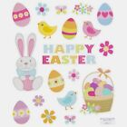 2 Sheets Glitter Easter Planner Stickers Papercraft Envelope Seals Cards Bunny
