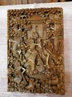 Beautiful Indian Carved Art Thick Wood Carving Amazing