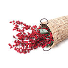 1Wreath Artificial Holly Berry Branch Decor 5 Color For Home Art Photography G9