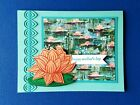 STAMPIN UP Lovely Lily Pad Mothers Day Card Handmade