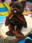 Ty M.C. MasterCard Chocolate Bear 2001 Tag Protected Beanie Baby Excellent