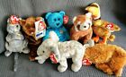 Beanie Babies Fifa,Peoples Beanie,Rusty,Glider, Sequoia, Chedar, Pounds ALL RARE
