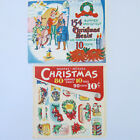 Vintage Christmas Stickers Gummed Cut Out  Gift Tags 175 + 1940s 1950s
