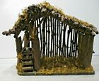 VINTAGE NATIVITY WOOD CRECHE MANGER STABLE ONLY