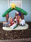 NATIVITY SCENE INFLATABLE BLOW UP CHRISTMAS JESUS MARY 7 FEET Decoration