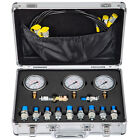 Hydraulic Pressure Test Kit 250 600Bar 11 Couplings 3 Hose 3 Gauge for Excavator