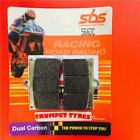 MZ 660 MUZ SKORPION TRAVELLER 99 > ON SBS FRONT BRAKE PADS RACE DUAL CARBON