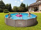 Frame Metal 305 x 76 cm Rattan Schwimmbecken Swimming Pool Schwimmbad QUICK Up