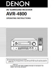 Denon AVR-4800 Surround Receiver Owners User Operating Instruction Manual