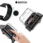 Watch Strap + Cover+Glass Tempered 9H for Apple Watch 5 4 3 2/44 42 40 1 1/2in