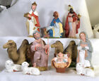 3005 Old Retro Nativity made in Japan 11 pieces 4 3 4 tall