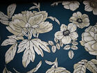 Fabric Finder 1548 navy blue floral 100 cotton print