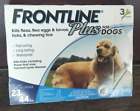 3 Doses Frontline Plus for Dogs Flea  Tick 23 to 44lbs Blue 3 Month Supply