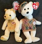 Beanie Babies 2 AdvertisingBears: PGA Tour-TOUR Teddy, Crackerbarrel - Cornbread