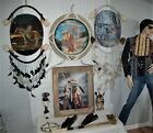 NATIVE AMERICAN INDIAN Wall Art Decor Bone Plate Protection Necklace Others