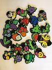 Craft Lot Of 22 Foam Chunky Stamps fruit insects flowers Scrapbook preschool
