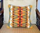 Pillow Cover handmade from vintage Wool Blanket Native Tribal rustic decor sage
