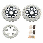 For Suzuki GSXR600W GSX-R750 GSXR1100 89-92 Front Rear Brake Discs Rotors + Pads