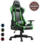 Gaming Chair Office Racing Style 180 Recliner Computer Seat Swivel Desk Chair