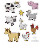 2 Sheets Farm Barnyard Animals Stickers Planner Party Supply DIY Crafts Cards