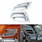 ABS L&R Side Fairing Accent Grilles For Honda Goldwing GL1800 2001-2011 Chrome