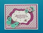 STAMPIN UP Handmade All Occassion Card Butterflies Mothers Day Birthday