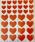 Foil Red Hearts Stickers Planner Papercraft Journal Party Favors Valentines Day
