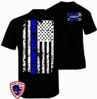 Thin Blue Line Shirt T Shirt Blue Lives Matter American Flag Decal Apparel