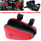 Red Saddle Storage Bag Engine Guard Case Pouch For BMW R1200GS F800GS F700GS