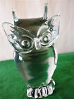 VINTAGE V NASON  CO MURANO CLEAR GLASS OWL FIGURINE PAPERWEIGHT