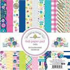 Doodlebug Double Sided Paper Pad 6X6 24 Pkg Hello 842715060074