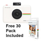 Polaroid SnapTouch Instant Print Digital Camera w LCD Display White + FREE 30ct