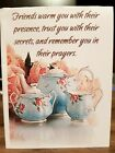 KITTYS NOTE CARDS Set of 10 + Envelopes Friends Blue  Rose Teapot Set
