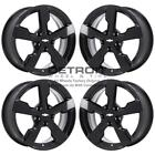 17 CHEVROLET VOLT GLOSS BLACK WHEELS RIMS FACTORY OEM 5481 2011 2015 SET