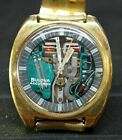 Vintage BULOVA Accutron SpaceView 214 watch Oversize 10KT GOLD Filled Very RARE!