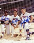 BECKETT SIGNED RON LeFLORE FRED LYNN RUSTY STAUB 1976 AS TIGERS 8X10 AUTOGRAPHED
