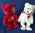 Ty Beanie Babies Valentina and Brown Nose Valentino MWMT's    Valentines Day