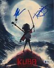 TRAVIS KNIGHT ART PARKINSON KUBO TWO STRINGS SIGNED 8X10 PHOTO BECKETT AUTO A