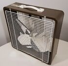 TEMPMASTER VINTAGE BOX FAN ELECTRIC 2-SPEED 16