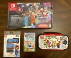 Nintendo Switch 32GB Console Joy Con Animal Crossing Game Case Skins AC Bundle